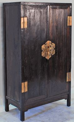 silk road collection - Antique Asian Furniture: Antique Chinese Armoire Cabinet from Northern China (Shanxi or Beijing)