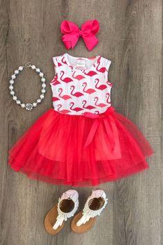New Newborn Kids Baby Girl Flamingo Sleeveless Dress Tutu Skirt Clothes Sundress Toddler Tutu, Toddler Outfits, Toddler Girl, Kids Outfits, Baby Girls, Newborn Outfits, Infant Toddler, Fashion Kids, Baby Girl Fashion