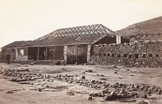 Rorke's House Front View, Buffalo River', Photograph by James Lloyd, British Soldier, British Army, University Of Kent, Kwazulu Natal, British Colonial, African History, British History, House Front, Military History