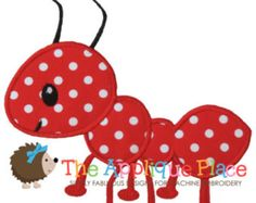 Ant Machine Embroidery Applique Design by TheAppliquePlace on Etsy Baby Applique, Machine Embroidery Applique, Applique Patterns, Applique Quilts, Applique Designs, Machine Quilting, Hand Embroidery, Quilt Patterns, Embroidery Machines