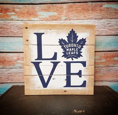 Jay Z Basketball Team Brooklyn Key: 1276524844 Hockey Gifts, Hockey Mom, Ice Hockey, Wedding Favor Table, Toronto Maple Leafs, Canada Day, Leaf Art, Diy Signs, Quotes For Kids