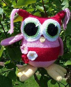 Des hiboux... oiseaux... une petite amineko: finis !!! Caron Yarn, Couture, Plushies, Crochet, Christmas Ornaments, Holiday Decor, Pattern, Food, Amigurumi