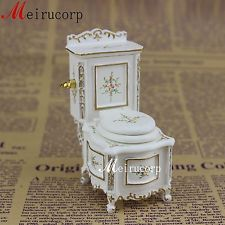 Fine 1:12 scale dollhouse miniature furniture bathroom set painted toilet