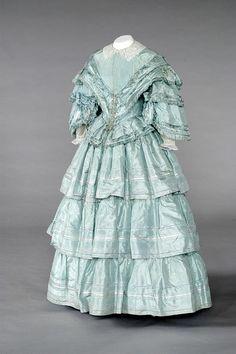 Bride's dress,1850s.