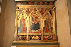 Madonna in trono e Sante di Taddeo Gaddi, 1350 ca. In alto cornice di Cosimo Rosselli. JPG.   Flickr - Photo Sharing!