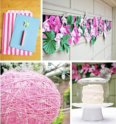Pinwheels and paper rosettes