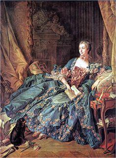 퐁파두르 부인의 복장 -로코코양식  -로코코의 특징인 파스텔톤 드레스를 즐겨입음 -화려하고 우아함 -당시 미모와 재능, 지혜를 겸비한 여인으로 많은 사람들의 사랑을 받음 -프랑스의 정치와 문화 전반에 막중한 영향을 끼침 -'퐁파두르 양식'의 패션이 유행