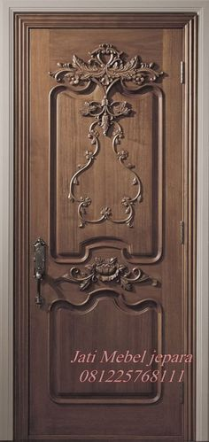 Pintu Single Terbaru 2016 Model Klasik Ukiran Jepara harga murah. produk kusen pintu minimalis perabot jati mebel jepara dengan kode JMJ - 017, pintu kamar