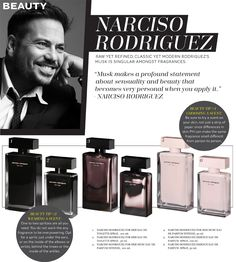Narciso Rodriguez on perfume: for him & for her - Fashion Indie favorite perfume right now in love with it!
