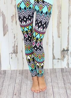 tribal leggings Modern Vintage Boutique