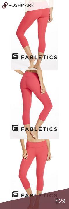 71da7024f0e058 FLABETICS Pink Salmon Crop Leggings S FLABETICS Pink Salmon Crop Leggings S  - used couple times