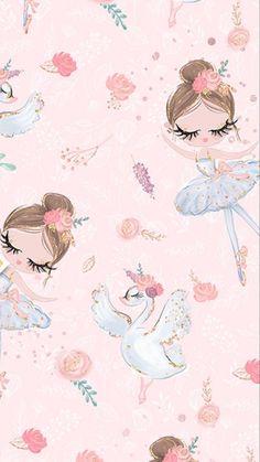 ideas baby girl wallpaper pattern for 2019 Baby Girl Wallpaper, Ballet Wallpaper, Pastel Wallpaper, Cute Wallpaper Backgrounds, Cute Wallpapers, Iphone Wallpaper, Cute Wallpaper For Girls, Bedroom Wallpaper, Desktop Wallpapers