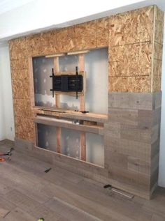 Decor ideas for living room with fireplace tv walls Trendy Ideas - Built in . - Decor ideas for living room with fireplace tv walls Trendy Ideas – Built in wall units Fireplace Tv Wall, Fireplace Design, Fireplace Ideas, Fireplace Remodel, Fireplace Furniture, Propane Fireplace, Linear Fireplace, Basement Fireplace, Bedroom Fireplace