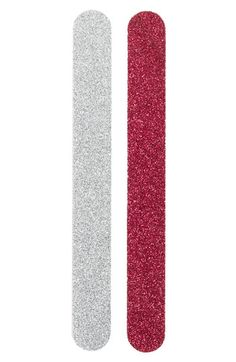 Nordstrom 'Cranberry & Silver' Nail Files (2-Piece) | Nordstrom