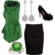 LOVE green! this outfit is adorable!