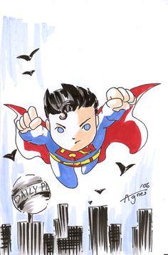 Mini Superman by Agnes Garbowska