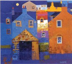 Stone Shed by George Birrell - art print from King Kitsch, Framing Canvas Art, Glasgow School Of Art, Building Art, Modern Artists, Art Pictures, Framed Pictures, Art Lessons, Home Art