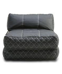 Black Austin Bean Bag Chair/Bed by Gold Sparrow #zulily #zulilyfinds
