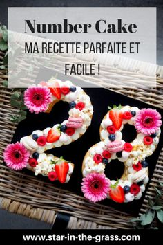 Ma recette parfaite et facile du Number Cake / Letter Cake ! My perfect and easy recipe for the Number Cake / Letter Cake! Baking Recipes Cupcakes, Homemade Cake Recipes, Easy Recipes, Easy Vanilla Cake Recipe, Chocolate Cake Recipe Easy, 19th Birthday Cakes, Birthday Cupcakes, Cake Lettering, Macarons