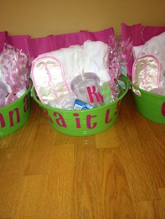 Spa bucket! Initial cup, robe, manicure set, eye mask, bag to decorate and foot soak bucket!