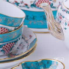 Details Tupini Tea set - once purchased in 1901 by the Persian Shah.A Luxury decor.