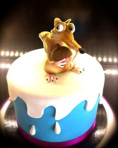 Scrat cake - For all your cake decorating supplies, please visit craftcompany.co.uk
