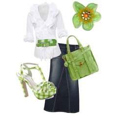 """Absolute total cuteness!! @Amber Cobb ... this outfit has your name written all over it! """"green spring"""" by aaronjillthomas on Polyvore"""