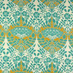 Free Spirit - Leafy Damask 1 - Cotone - turchese