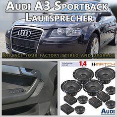 Audi A3 Sportback Lautsprecher http://radio-adapter.eu/produkt/audi-a3-sportback-auto-lautsprecher-set-mit-4-hochtoener/ Dieses Audi A3 Sportback Auto Lautsprecher Set mit 4 Hochtöner ist für den Austausch der Werkslautsprecher in den Türen für Audi A3 8PA Sportback von 2004-2012 geeignet.