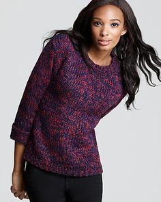 Aqua Sweater - Marled Crewneck   Bloomingdale's