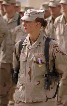 Awesome > SGT Leigh Ann Hester Hester enlisted in the U.S. Army in April 2001 and is the first female U.S. Army soldier to receive the Silver Star for exceptional valor since World War II.