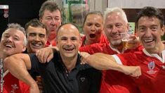 Jaco Peyper posed with Wales fans as they celebrated the quarter-final win against FranceJaco Peyper will not referee a World Cup semi-final after mocking sent- French Rugby, England Players, Emotional Photos, Fan Picture, All Blacks, Rugby World Cup, Jaco, Referee, Semi Final