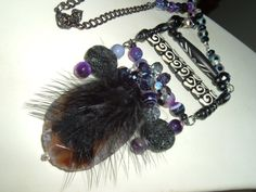 Exotic Slab Agate Statement Necklace with by extravagantdesigns, $65.00