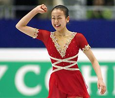 Mao Asada -Red Figure Skating / Ice Skating dress inspiration for Sk8 Gr8 Designs.