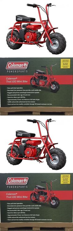 Gas Scooters 75211: Coleman Trail 100Cc Mini Bike Wheelbase 34 4 Stroke Ohv — 1 Cylinder Red -> BUY IT NOW ONLY: $364.68 on eBay!