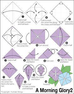 Origami Morning Glory 2 Petals