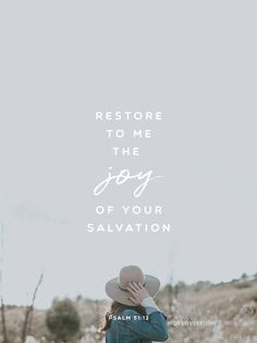 Restore to me the joy of your salvation  Psalm 51:12  #30DaysOfBibleLettering
