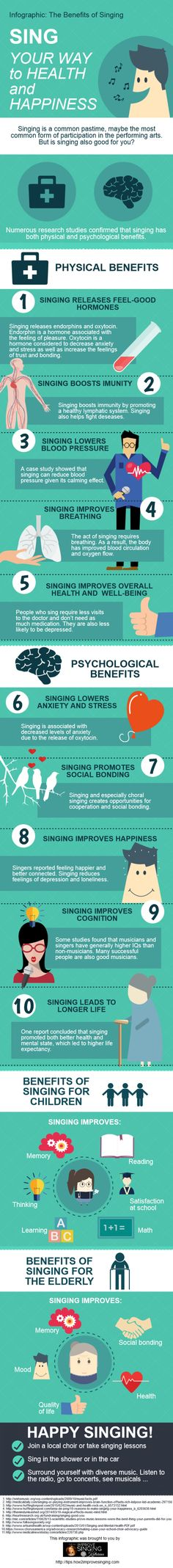 The Benefits of Singing Infographic