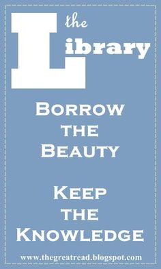 Borrow the Beauty - Keep the Knowledge