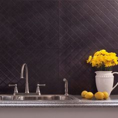 This 18-square foot kit includes six (6) backsplash panels, four (4) 4-foot j-trim pieces, two (2) 18-inch inside corner pieces, one package of matching outlet covers and four (4) rolls of double sided tile decorative wall tile adhesive tape.