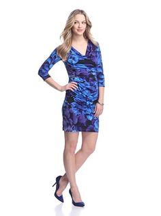 75% OFF Muse Women's Printed Draped Dress