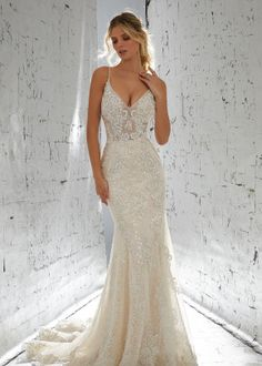 0d2639821760 Laurette 1711 Sheath Wedding Dress by Morilee by Madeline Gardner  Bridesmaids - WeddingWire.com Fitted