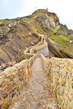 The man-made bridge to the islet of San Juan de Gaztelugatxe