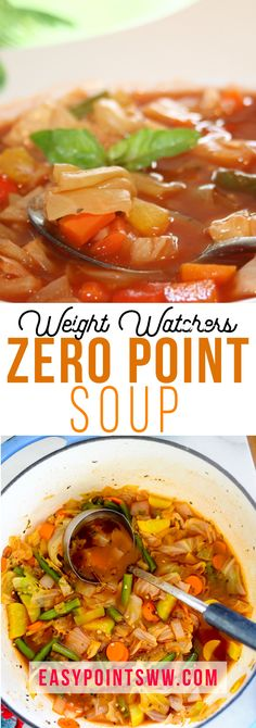 Weight Watchers Zero Point soup recipe with many variations - Easy Healthy Recipes - Soup Recipes Weight Watcher Dinners, Plats Weight Watchers, Weight Watchers Soup, Crock Pot Recipes, Slow Cooker Recipes, Vegetable Soup Recipes, Healthy Soup Recipes, Veggie Soup, Eat Healthy