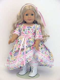 American Girl Doll Clothes  Caroline  Handmade by LidiDesigns