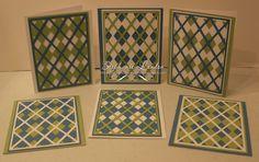 Argyle Card Set - Marina Mist, Certain Celery, Whisper White