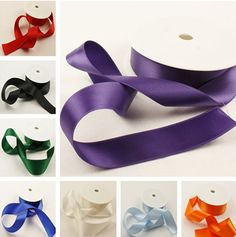 2 Metres of 25mm Wide Double Faced Satin Ribbon Choose from 18 Colors High Quality AA7725 #Affiliate