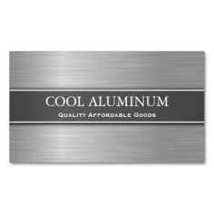 Steel / Aluminum Effect Business Card