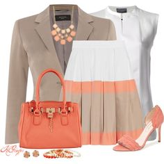 Spring Office Style, created by kginger on Polyvore