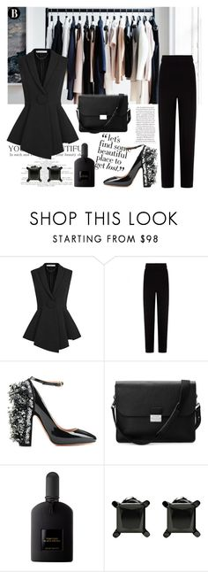 """Luxury Black"" by tamo-kipshidze on Polyvore featuring Givenchy, Balenciaga, Rochas, Aspinal of London and Tom Ford"